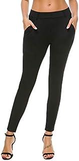 Bamans Women's Skinny Leg Work Pull on Slim Stretch Yoga...