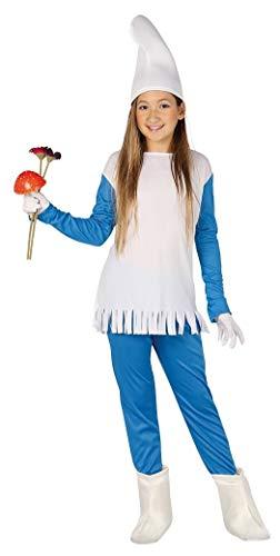 Guirca Costume vestito Puffetta Puffo carnevale bambina 8155_ 5-6 anni