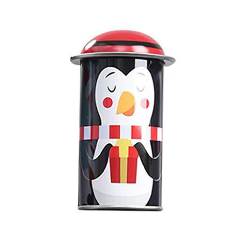 Amosfun Biscottiera Natalizia Barattolo con coperchi contenitori per dolciumi Biscotti Natalizi lattina per bomboniere Capodanno Natale