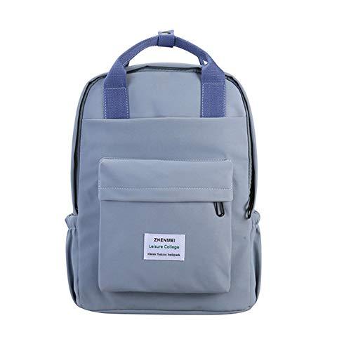 2020 Waterproof Nylon Women Backpack Female Solid Color Schoolbag,Leisure Long Portable Travel Backpack Large Capacity