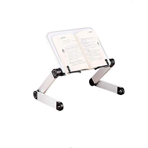 OYEFLY Atril de lectura ajustable, altura y ángulo ajustables, soporte ergonómico para libros grandes, libros de música, tabletas, libros, etc. Plegable, color blanco
