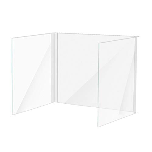 SFNTION Sneeze Guardia Dello Schermo Del Basamento Della Scrivania Divisore Clip Supporto Morsetto per Plexiglass Tavolo Morsetto per Protezione Spit