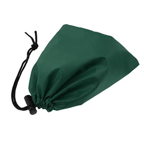 Baoblaze Sac de Rangement Imperméable Pliable Organisateur Camping Randonnée Voyage - Vert noirâtre, 17CMx14CM
