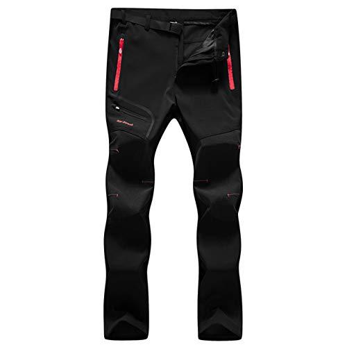 EmNarsissus Pantaloni Softshell Invernali Pantaloni Impermeabili in Pile Caldo Pantaloni da Trekking per Arrampicata all'aperto Pantaloni da Sci Sottili/Spessi per Uomo Donna