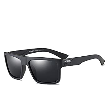 DUBERY Mens Sport Polarized Sunglasses Outdoor Riding Square Windproof Eyewear  #1  Frame width-141mm