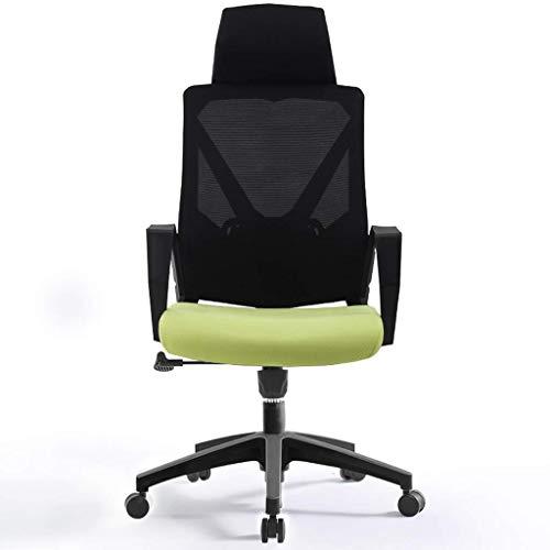 CHHD Bürostuhl, Bürostuhl Computerstuhl Schreibtischstuhl, höhenverstellbar, abnehmbare Kopfstütze, 360 & deg;Drehung (Farbe: Orange)