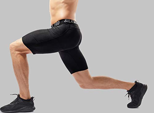 SILKWORLD Men's Compression Shorts Running Tight