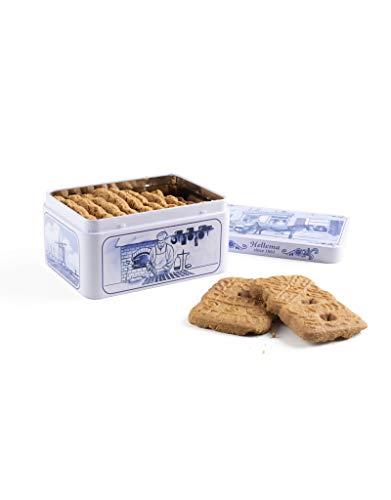 hellema Speculaas koekjes in Delft BLIK/Spiced Cookies Kekse in Delft Dose 135g, Spekulatius, Weihnachten