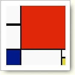 ピエト・モンドリアン,赤、青および黄のコンポジション,1930年