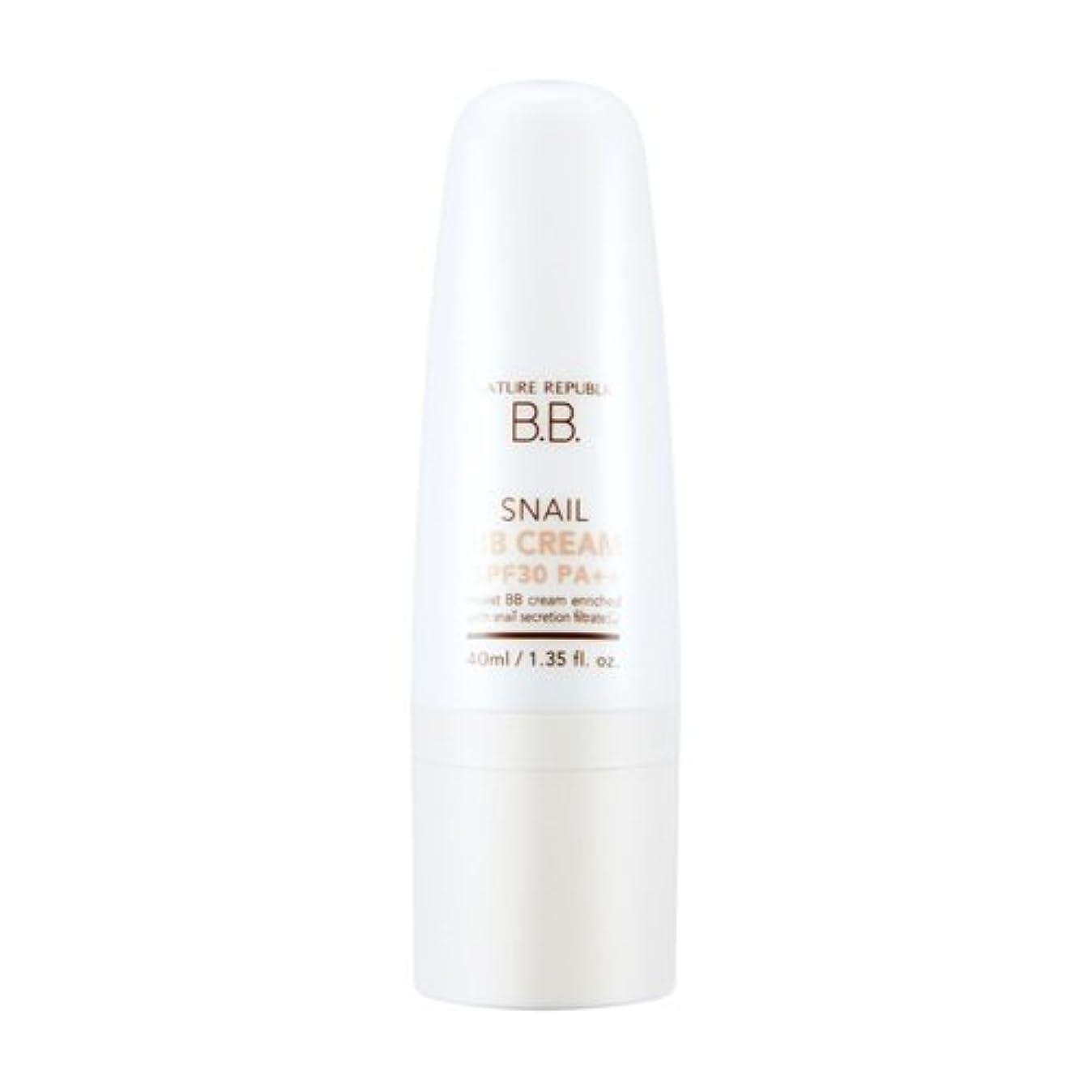 狂人紳士ひそかにNATURE REPUBLIC Snail BB Cream (SPF30PA++)-No.1