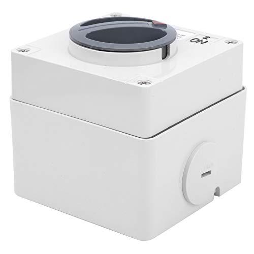 Interruptor aislador giratorio de 250 V Indicadores de botones IP66 Interruptor eléctrico Componentes de control industrial con bloqueo de seguridad(1P 20A)