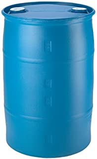 30 Gallon Plastic Water Barrel Great for Long Term Water Storage. | Blue