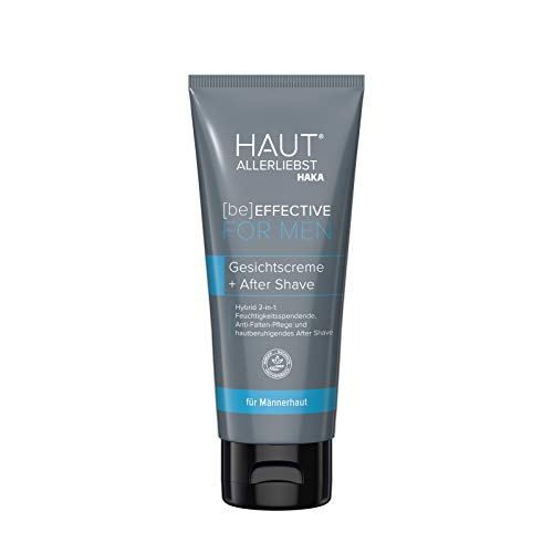 HAKA FOR MEN Hybrid Gesichtscreme+After Shave I 100 ml I Feuchtigkeitsspendend und hautberuhigend I Anti-Aging-Effekt