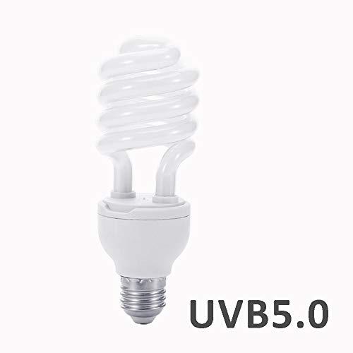Bloomma Luce Rettile, E27 UVB 5.0/10.0 Fluorescent Desert Tropical Terrarium 26W Lampada UV Lampada di Calcio per Tartaruga Rettile