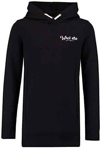 Garcia Mädchen Kapuzen-Sweatshirt Hoodie angeraut in Off Black, Größe:176, Farbe:Off Black