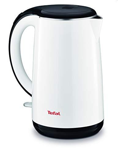 Tefal KO260130 Teekanne, 1,7 l, 2400 W, Schwarz, Weiß, Kunststoff, Edelstahl, Wasserstandsanzeige, Überhitzungsschutz