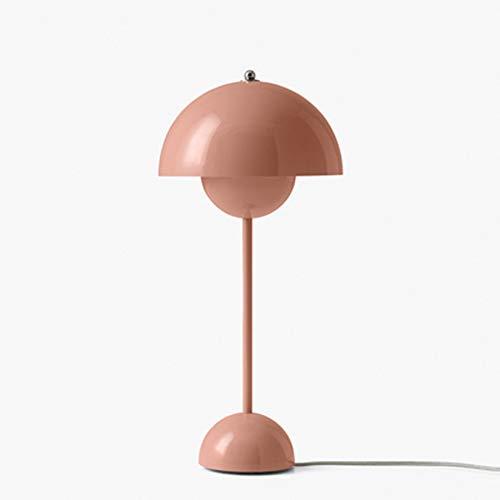 ZWMG Lámparas de Mesa Habitación Sencilla lámpara de Mesa nórdica Creativo Muestra de Arte Infantil Estudio Dormitorio Mesita de luz de la lámpara (Color : Pink)