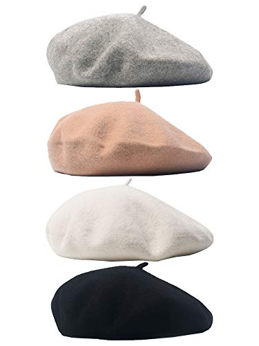 BPOF99/_Hats Berets for Women,Black Beret French Style Cap 2019 New Warm Winter Hats for Women Chirstmas Gift