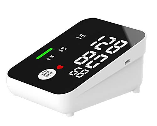 MAIYUE AS13 Arm Oberarm Blutdruckmessgerät Blutdruckmessgerät zu Hause ältere Gesundheitsüberwachung Blutdruck und Herzfrequenz (Schwarz)