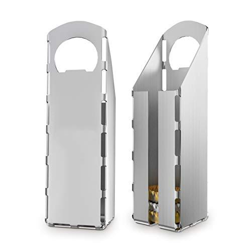 Mifratec Design Flaschenöffner mit integriertem Behälter | aus hochwertigem Edelstahl | Flaschenöffner Edelstahl Made in Germany
