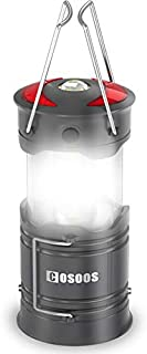 Rechargeable Lantern Flashlight, COSOOS Portable LED Camping Lamp with Built-in 2000mAh Li-ion Battery, 4 light Mode, Red ...
