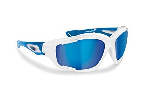 BERTONI Gafas Deportivas Polarizadas Hidrofóbicas Envolventes a Prueba de Viento para Ciclismo Carrera Deporte Acuaticos Esqui Pesca Kitesurf P1000
