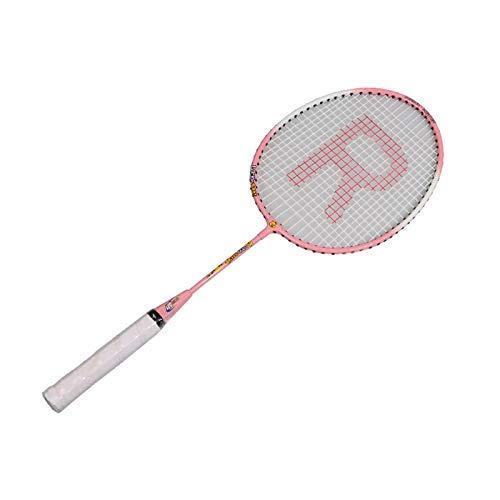 Zhicaikeji Raqueta de Badminton Bádminton Infantil Raqueta de Hierro Aleación de Historieta Raqueta Compacto Niños Bádminton Raqueta para Juegos de Bádminton (Color : Pink, Size : 20x55cm)