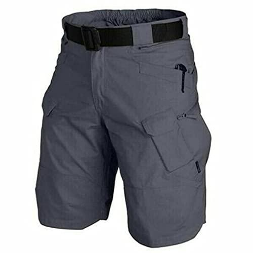 Floepx Pantalones cortos para hombre, de Upgrade impermeables, pantalones cargo para hombre, corte relajado, resistentes al agua, para trabajo, senderismo, actividades al aire libre