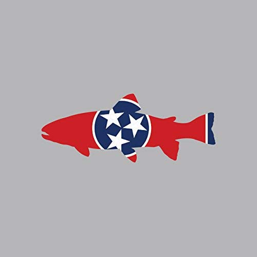 Tennessee State Shaped Trout Sticker Vinyl Decal Sticker TN Fly Fishing Fish Made in USA