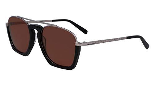 Karl Lagerfeld KL274S Metall-Sonnenbrille Ruthenium/Black Zyl Unisex Erwachsene, Mehrfarbig, Standard