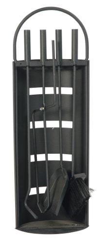 Modernes Kaminbesteck MALMÖ 5-teilig, Metall schwarz