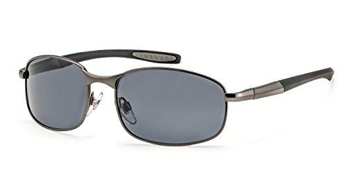 Filtral Polarisierte Sonnenbrille/Sportliche Metall-Sonnenbrille für Herren in Anthrazit mit Federbügelscharnier F3020909