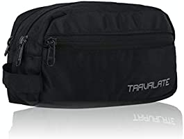 Travalate Polyester Toiletry Bag (Black_Tr1323)