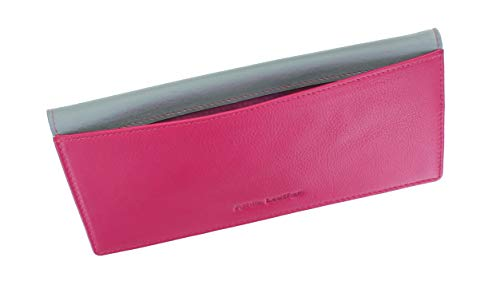 Ashlie Leather Porta Assegni in pelle AC123 Bacca/Grigio