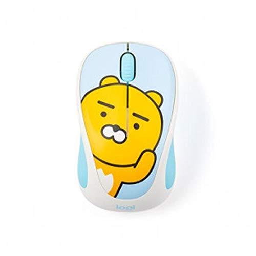 Kakao Friends M238 Optische Maus, kabellos, mit Nano-USB-Empfänger, 3 Tasten, 12 Monate Batterielaufzeit (Ryan)