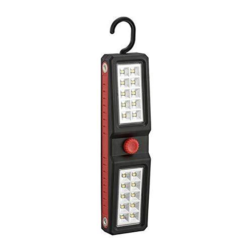 オーム電機 懐中電灯 ブラック 幅5.5×高さ22×奥行3.2cm(フック収納時)
