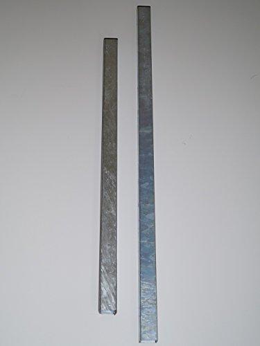 GABIONA ZAUNPFOSTEN Pfosten Kippsicherung Gabione Vierkantrohr 40x40mm feuerverzinkt (100 cm)