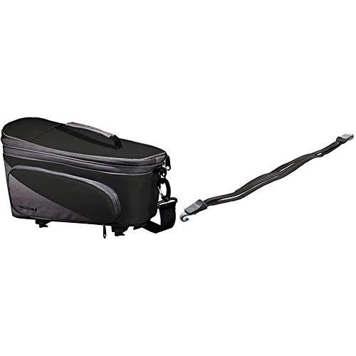 Racktime Unisex– Erwachsene Talis Plus Gepäckträgertasche, schwarz, 1size & Spanngurt Bind-it, schwarz, One Size