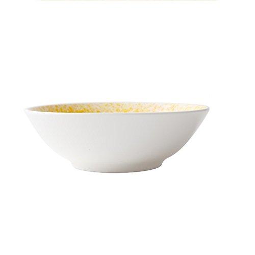 Bols à céréales Vaisselle en céramique Creative Vaisselle Salade maison Rice Rice Dessert Bow 7,3 pouces (Couleur : Le jaune)