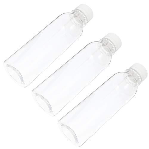 YARNOW 20 Piezas de Botellas de Jugo de Plástico con Tapas Envases de Leche Vacíos Transparentes Reutilizables con Tapas para Bebidas de Jugo de Leche Bebida de 250 Ml