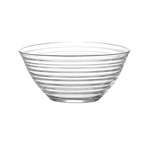 28GRJ Large Glass Mixing Bowl, Big Glass Bowl For Salads Desserts Fruit And More, Microwave And Dishwasher Safe Clear Bowls, Food Safe Dishware GRJ
