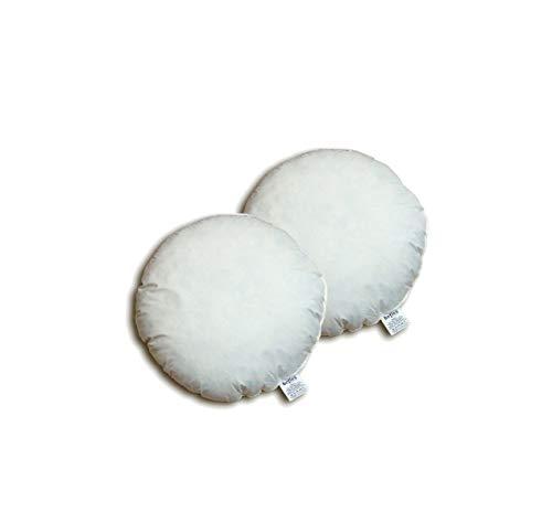 """beties """"Publik"""" Federkissen Rundkissen 2er Set 40 cm rund Ø (echte Federn) vielfältige Größenauswahl, waschbar traditionell gefertigt Farbe Creme"""
