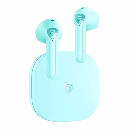 SoundPEATS TrueAir2 Cuffie Bluetooth 5.2, Auricolari Bluetooth Senza Filo con Qualcomm QCC3040, Cuffie True Wireless 4 Microfono e CVC Cancellazione del Rumore, Codece aptX, Totale 25 ore- Verde