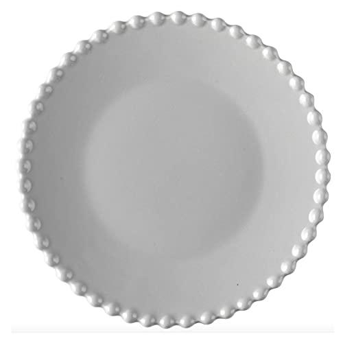 SBCNM Platos Llanos Conjunto de Placa de Cena Cocina de cerámica Placa de Fruta Vajilla Conjunto Platos de Comida Ensalada de arroz Fideos Tazón Sopa Sopa Cocina Desierto Herramienta (Color : A)