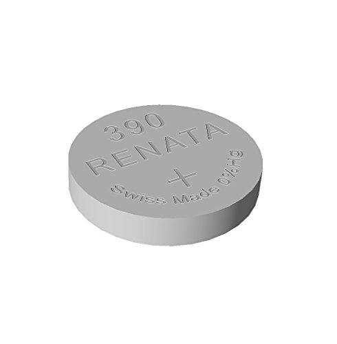 Renata / Swatch Group - Pila bottone ossido d'argento 390 RENATA 1.55V 80mAh - Blister x 1
