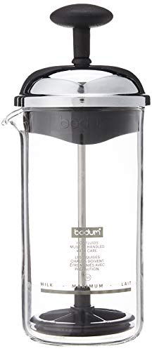 Bodum CHAMBORD Milchschäumer (Manuelles Aufschäumen, 0,08 liters) schwarz