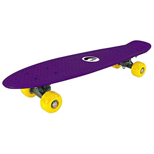 Best Sporting Retro Skateboard für Kinder, ABEC 5 Kugellager, Vintage-Look (Purple)