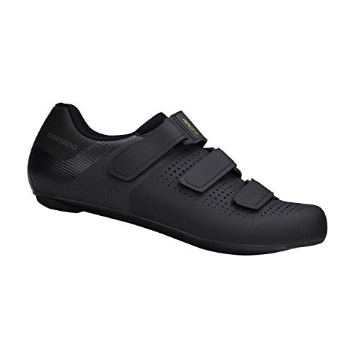 SHIMANO SH-RC100 Feature-Packed Entry Level Road Shoe, Black, Mens EU 46 | Mens US 11-11.5