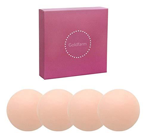 Nippleless Covers, Pasties, Silicone Reusable Breast Pasties Adhesive Bra 2 Pairs