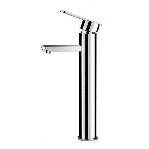 YXZQ Grifo monomando para lavabo con caño alto Baño Grifo para bañera cromado Grifo para lavabo de latón Grifo mezclador para lavabo Lavabo sobre encimera Grifo mezclador monomando para lavabo Mezclad